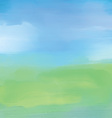 Abstract landscape in watercolor vector image vector image
