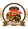 african icon vector image