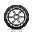 aluminum wheel car tire style racing vector image