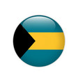 bahamas flag on button vector image vector image