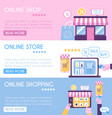 banner templates set online shopping flat vector image