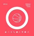 basketball ball line icon graphic elements for vector image vector image