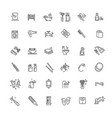 bath equipment icons made in modern line style vector image