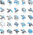 Big collection of company signs vector image vector image