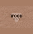 brown wood as graphic background texture vector image vector image