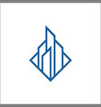 building line logo design vector image vector image