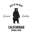 californian goods logo vector image vector image