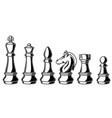 chess figures on white background design elements vector image