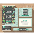 Cute pastel floral pattern wedding invitation vector image