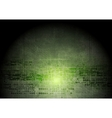Dark green grunge tech background with geometric vector image vector image