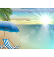 Daytime summer background on beach vector image vector image