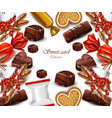 delicious chocolates candy card realistic vector image