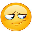 embarrassed smile emoticon vector image vector image