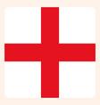england square flag button social media vector image vector image