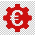 Euro Development Gear Icon vector image vector image