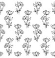 floral seamless pattern with poppies flowers vector image vector image
