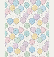 funny hand drawn colorful balloons pattern vector image