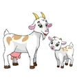 goat and kid on white background vector image vector image