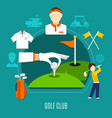 golf club composition vector image vector image