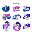 good sleep scenes collection vector image