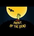 halloween cartoon doodle poscard design vector image vector image