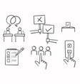 hand drawn doodle simple set voting related vector image vector image