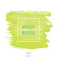 hand drawn watercolor light green lime color vector image