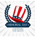 happy memorial day hat vector image