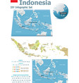 indonesia maps with markers vector image