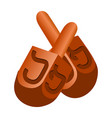 jewish dreidel icon cartoon style vector image vector image