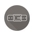 leather belt flat linear long shadow icon