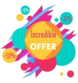 Limited Offer Mega Sale geometrical ultra modern vector image