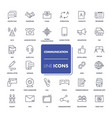 line icons set communication vector image