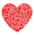 love heart collage of triangles vector image