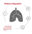 Lungs Medical Infographic vector image vector image
