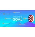 marketing goal arrow hitting target bulls-eye vector image