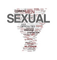 men s sexual health problems text background word vector image vector image