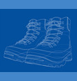 mens boot concept rendering of 3d vector image
