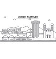 mexico acapulco architecture line skyline vector image vector image