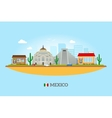 Mexico landmarks skyline vector image vector image