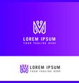 modern letter m logo design m letter minimal vector image vector image