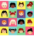 Multinational female face avatar profile heads vector image vector image