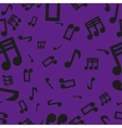 Musical Notes Seamless Pattern Violet vector image