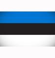 national flag estonia vector image vector image