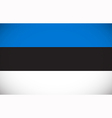 National flag of Estonia vector image vector image