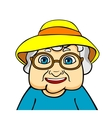 Old grandmother vector image
