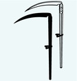 Old scythe vector image vector image