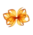 Orange Yellow Transparent Bow Top View Close up vector image vector image