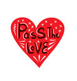 pass love heart vector image vector image