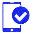 phone ok grunge icon vector image